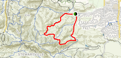 Stewartville, Ridge, Contra Loma, North Portal and Old Homestead Loop Map
