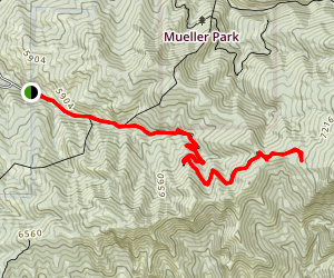 North Canyon Trail to Rudys Flat Map