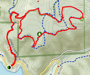 Jones, Manzanita, Wolverine Loop Trail Map