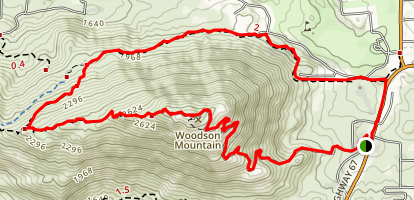 Woodson Mountain Loop Map