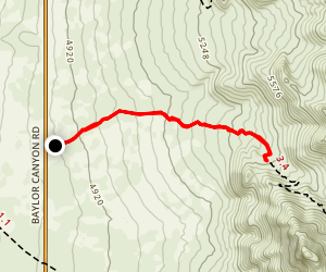 Baylor Canyon Short Version Map