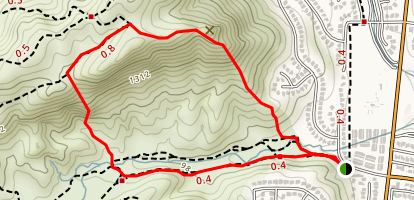 Cave Munits to Castle Peak Map