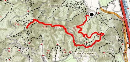 Hogback Trail to Mount Hollywood Map