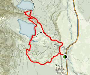 Taggart Lake and Bradley Lake Map