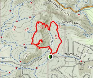Hidden Fawn and Three Sisters Loop Map