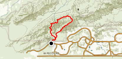 Goat Mountain via Pyramid, National and Lost Ranch Mine Loop Map