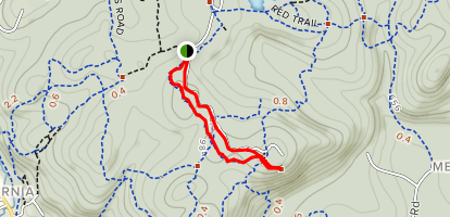 Wildcat Ridge - Orange Trail Map