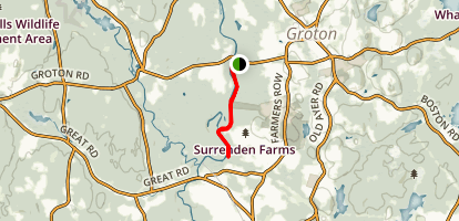 Sabine Woods to Surrenden Farms Map