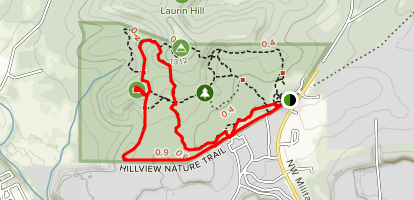 Yucca and Hillview Nature Trail Loop South Map