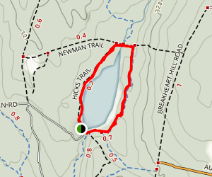 Breakheart Pond Loop via Hicks Trail Map