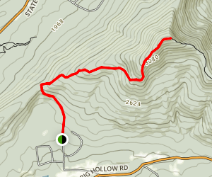 Windham High Peak via Elm Ridge Trail Map