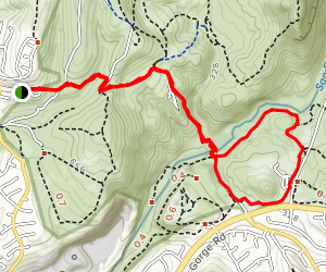 Claremont Mesa to Visitor's Center Loop Map