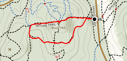 Skyline Trail to Buck Hill Map
