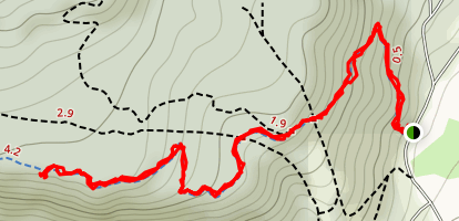 Tahoe Rim Trail to Twin Crags Map
