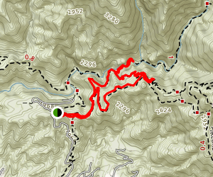 Mount Lowe Canyon Loop Map