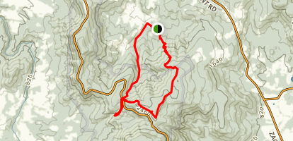 Lands Run Falls to Hickerson Hollow via Appalachian Trail Map