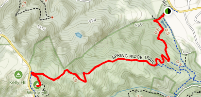 Spring Ridge Trail to Windy Hill Map