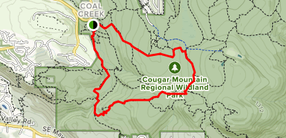 Wildside Trail to Shy Bear Trail to Cave Hole Trail  Map