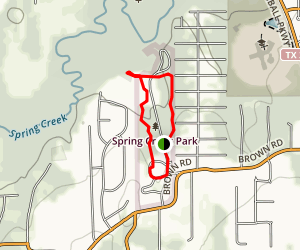 Spring Creek Park Loop Map