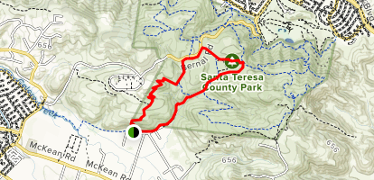 Fortini Trail to Stile Ranch Trail Map