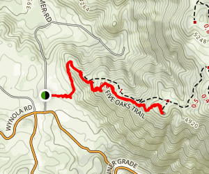 Five Oaks Trail Map