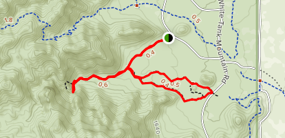Waterfall and Black Rock Trails Map
