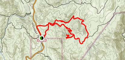Upper Descanso Creek Trail to Oakzanita Peak and East Mesa Fire Road Loop Map