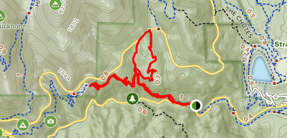Middle Columbine Goldcamp Loop Map