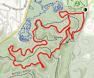 Percy Warner Paved Trail Map