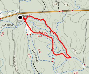 Mount Tom and Bald Hill Brook Trail Map