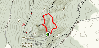 Sunrise, Monadncok, and Mountain Loop Trail Map