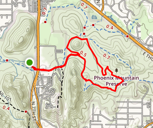 Stoney Mountain Loop Map