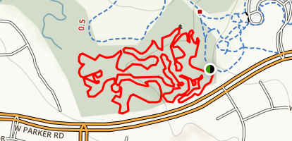 Arbor Hills Mountain Bike Loop Map