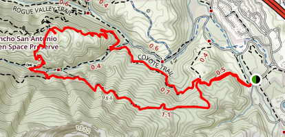 PG&E Wildcat, High Meadow, Coyote Map