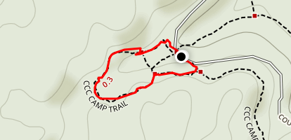 CCC Camp Trail Map