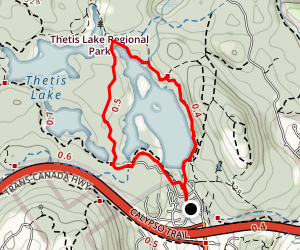Lower Thetis Lake Trail to Trillium Trail Loop Map