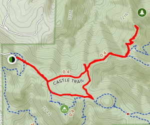 Castle and Walker's Dream and Meadow Trail Map