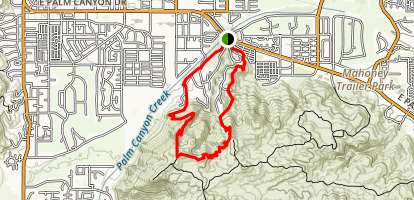 Araby and Berns Trail Loop Map