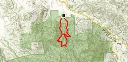 Back Creek Trail to Donner Canyon Road Loop Map