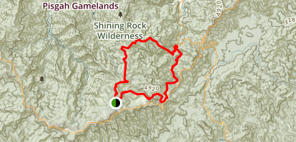 Shining Rock Loop from Black Balsam Road Map