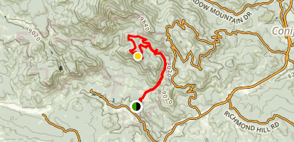 Mason Creek Trail to Bear Paw Trail Map