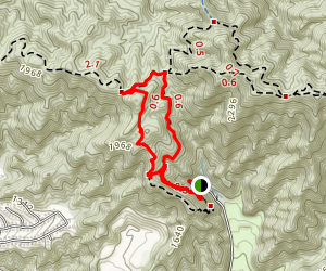 Scout Camp and Stough Canyon Loop Map
