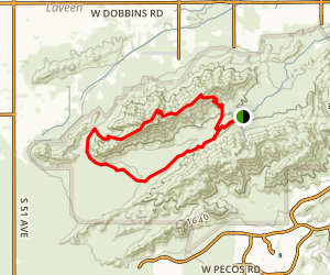 Alta Trail and Bajada Trail Loop from Summit Road Map