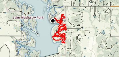 Lake McMurtry East Side Trails (Red) Map
