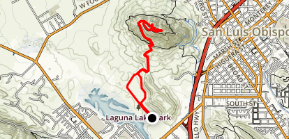 Laguna Lake Loop Trail to Cerro San Luis Obisbo Map