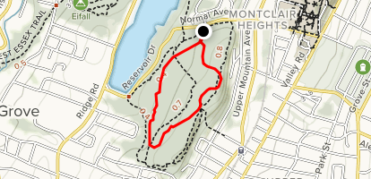 West, Glen and Eastview Trail Loop Map