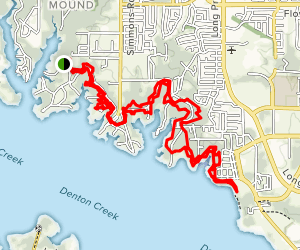 North Shore Trail from Green Oaks Drive Map
