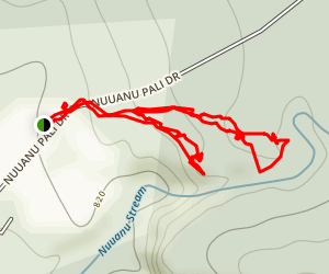 Kaniakapupu Ruins and Luakaha Falls Map
