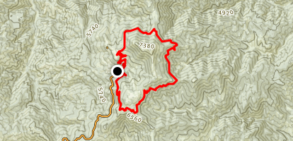 Deer Point, Around the Mountain, Morningstar Loop Map