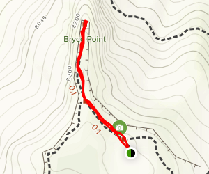 Bryce Point Trail Map